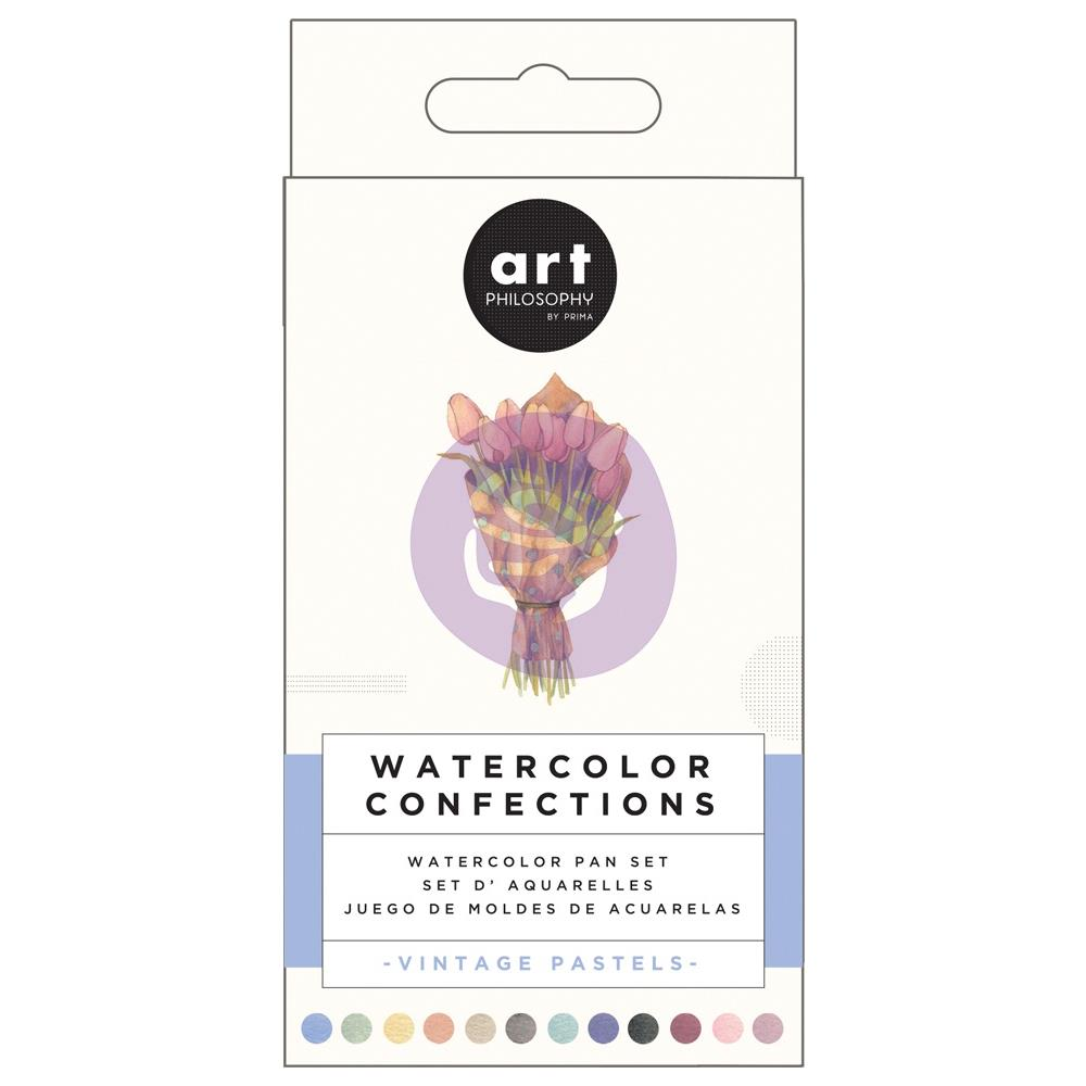 Prima Markerting - Prima Watercolor Confections Watercolor Pans 12/Pkg - Vintage Pastel