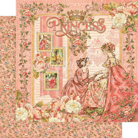 "Graphic 45 -  Princess Double-Sided Cardstock 12""X12"" - Princess"
