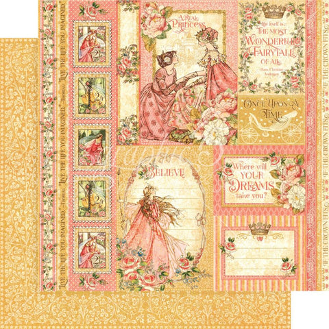 "Graphic 45 - Princess Double-Sided Cardstock 12""X12"" - Beautiful Maiden"