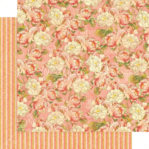 "Graphic 45 - Princess Double-Sided Cardstock 12""X12"" - Roses For Royalty"