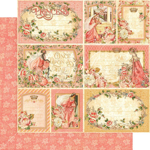 "Graphic 45 - Princess Double-Sided Cardstock 12""X12"" - Your Highness"