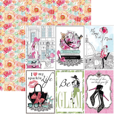 "(Pre Order) Ciao Bella - Italian Luxury Double-Sided Cardstock 90lb 12""X12"" - Accessories"