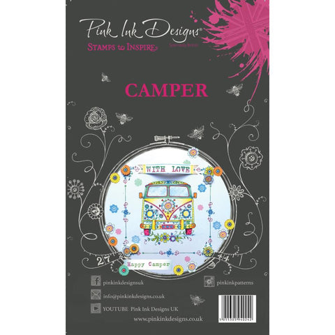 (Pre Order)  Creative Expressions - Pink Ink Designs A5 Clear Stamp Set - Camper