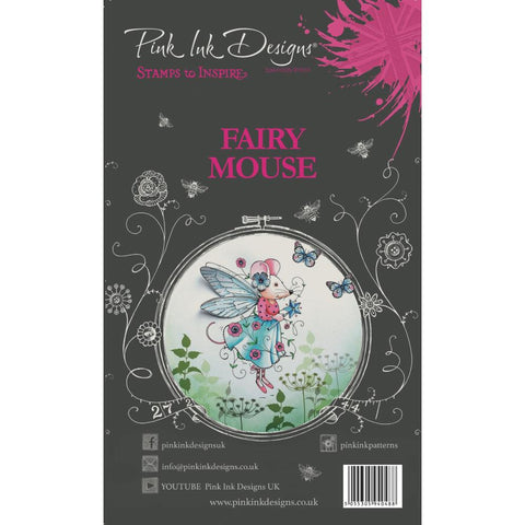 (Pre Order)  Creative Expressions - Pink Ink Designs A5 Clear Stamp Set - Fairy Mouse