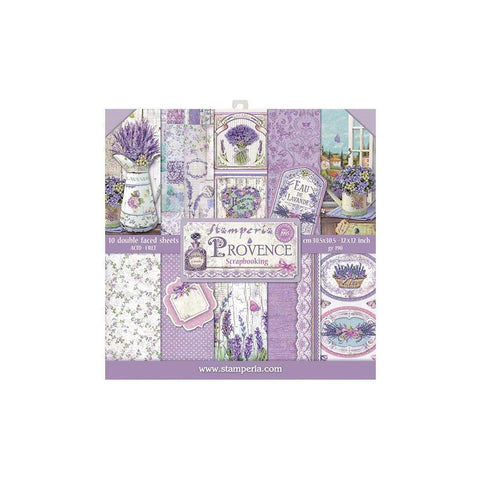 "(Pre Order) Stamperia - Double-Sided Paper Pad 12""X12"" 10/Pkg - Provence, 10 Designs/1 Each"