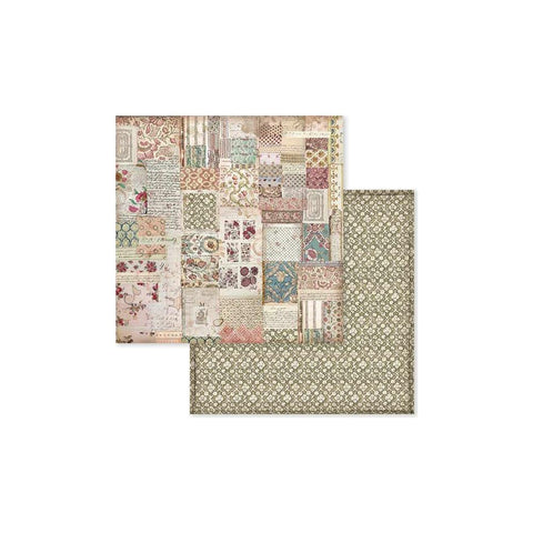 "(Pre Order) Stamperia - Double-Sided Cardstock 12""X12"" - Spring Botanic Patchwork"