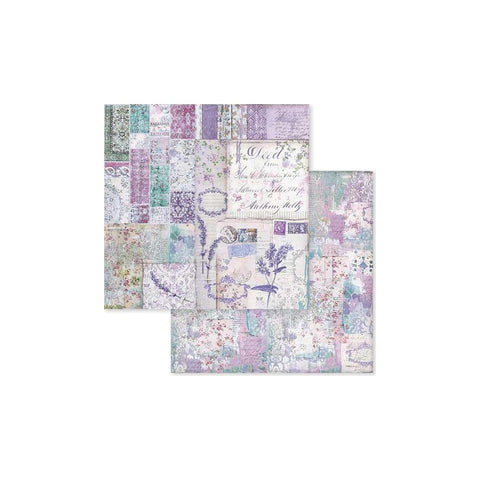 "(Pre Order) Stamperia - Double-Sided Cardstock 12""X12"" - Provence Patchwork"