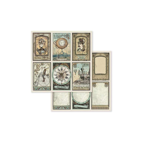 "(Pre Order) Stamperia - Double-Sided Cardstock 12""X12"" - Voyages Fantastiques Cards"