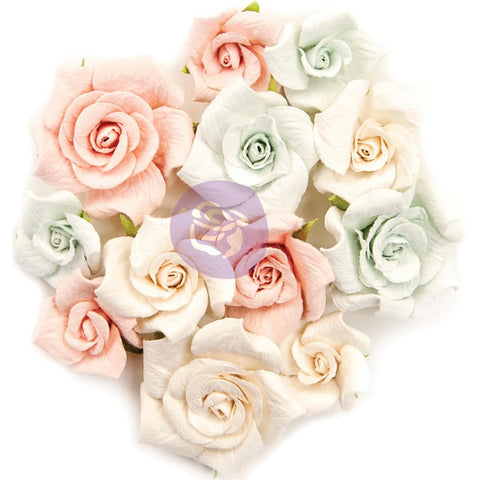 (Pre Order) Prima Marketing -  Poetic Rose Paper Flowers 12/Pkg - Fairytales