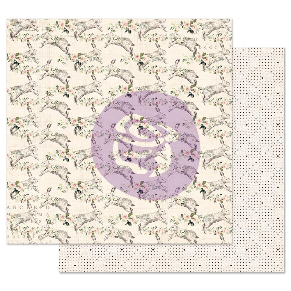 "Prima Markerting - Spring Farmhouse Foiled Double-Sided Cardstock 12""X12"" - Spring Farmhouse"
