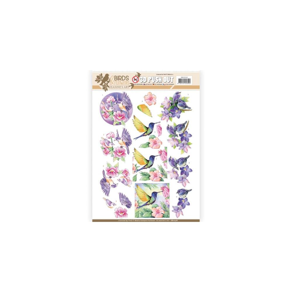Find It Trading - Jeanine's Art Birds & Flowers 3D Push Out Sheet - Tropical Birds