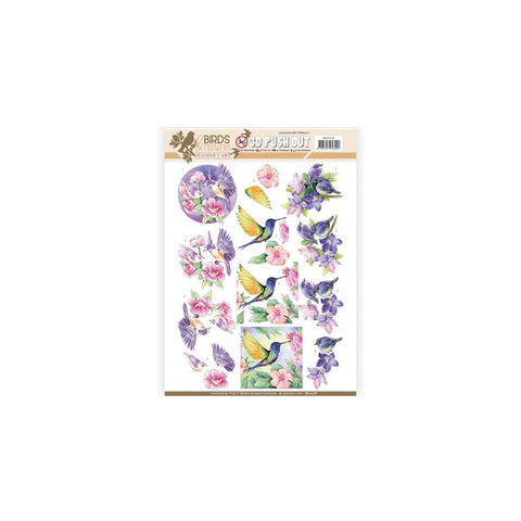 Find It Trading - Jeanine's Art Birds & Flowers Punchout Sheet - Tropical Birds