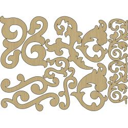 Wisteria Laser-Cut Wood Shapes - Flourishes