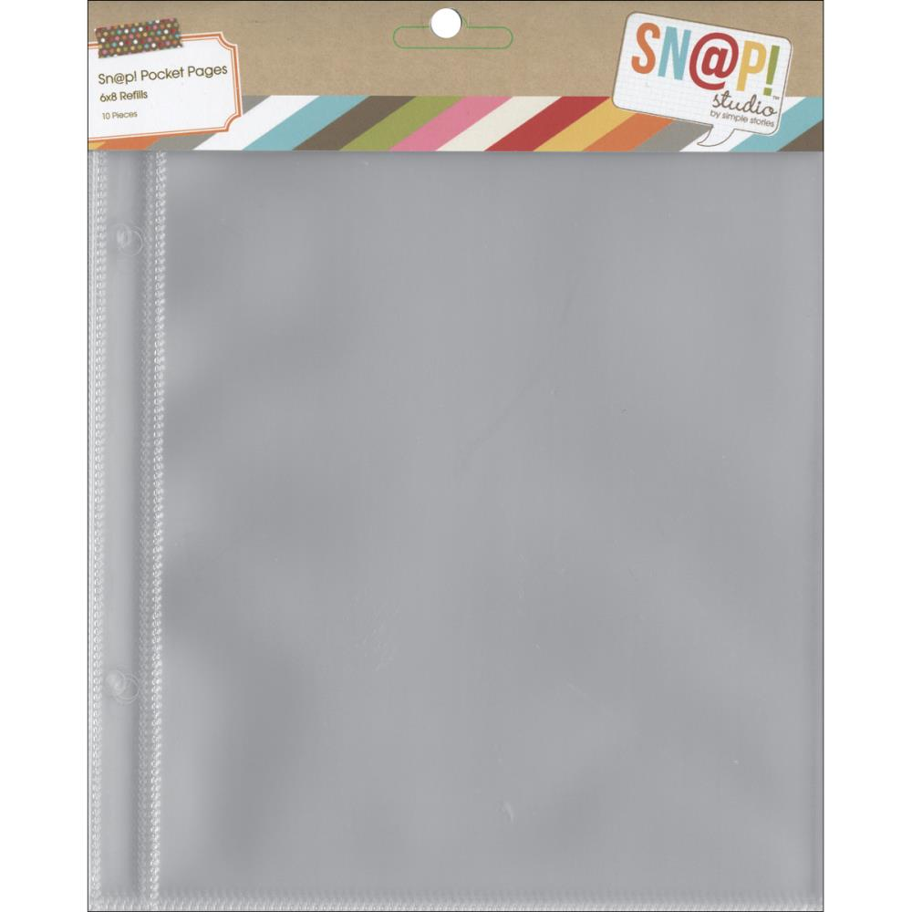 "Simple Stories - Sn@p! 6""x8"" Pocket Pages 10/pkg"
