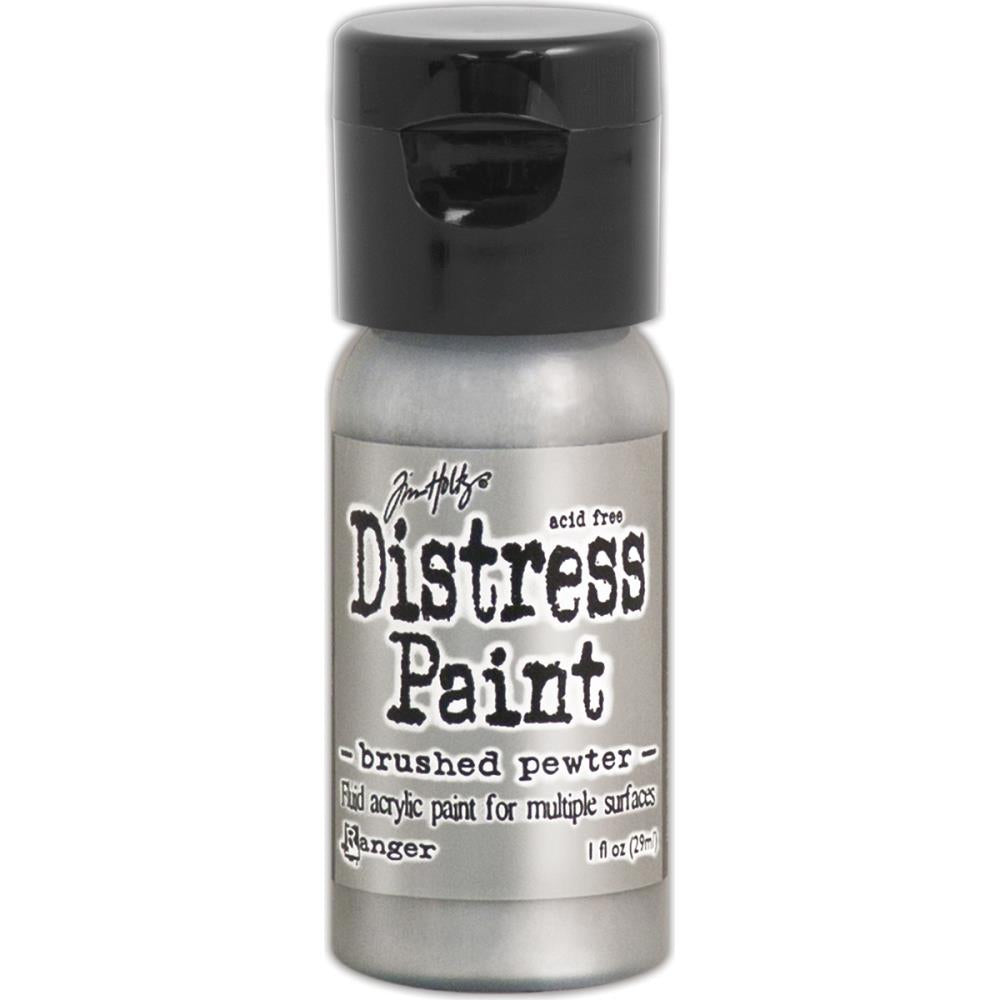 Ranger - Tim Holtz - Distress Paint Flip Cap 1oz - Brushed Pewter