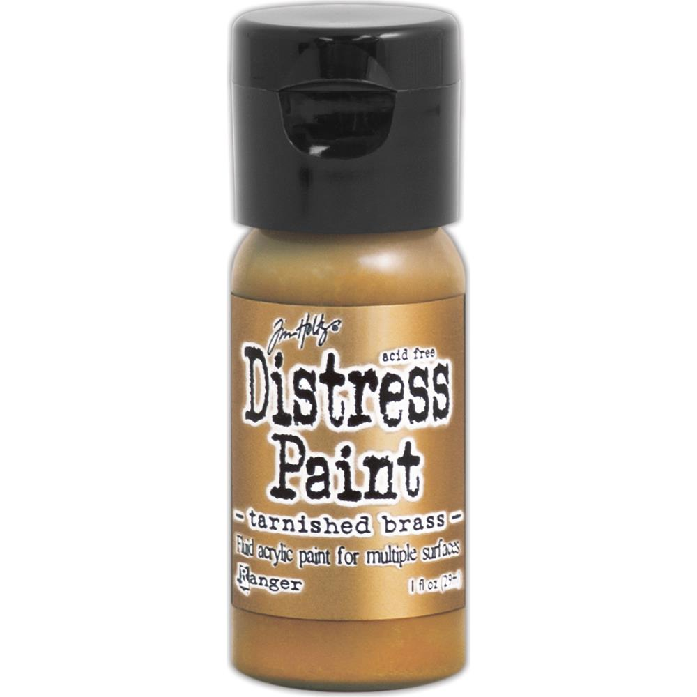 Ranger - Tim Holtz - Distress Paint Flip Cap 1oz - Tarnished Brass