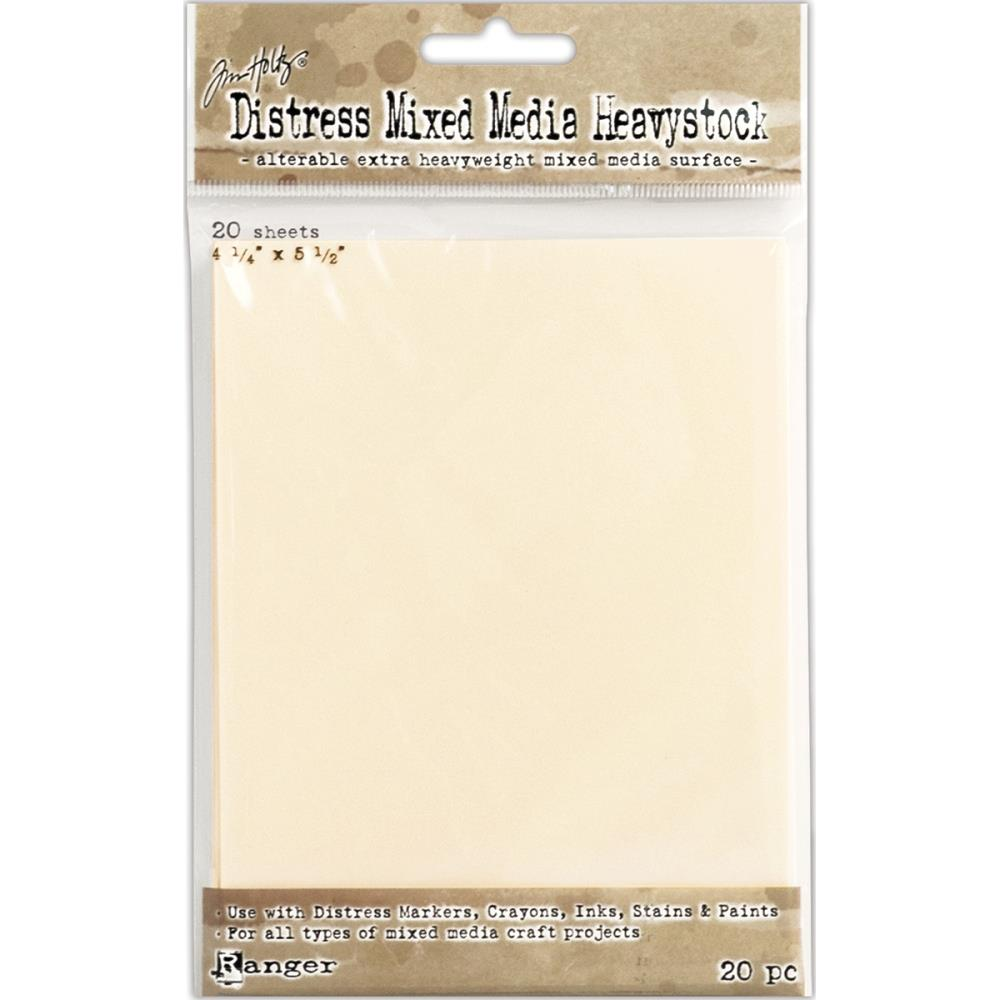 "Tim Holtz Distress Mixed Media Heavystock 4.25""x5.2""  20/Pkg"