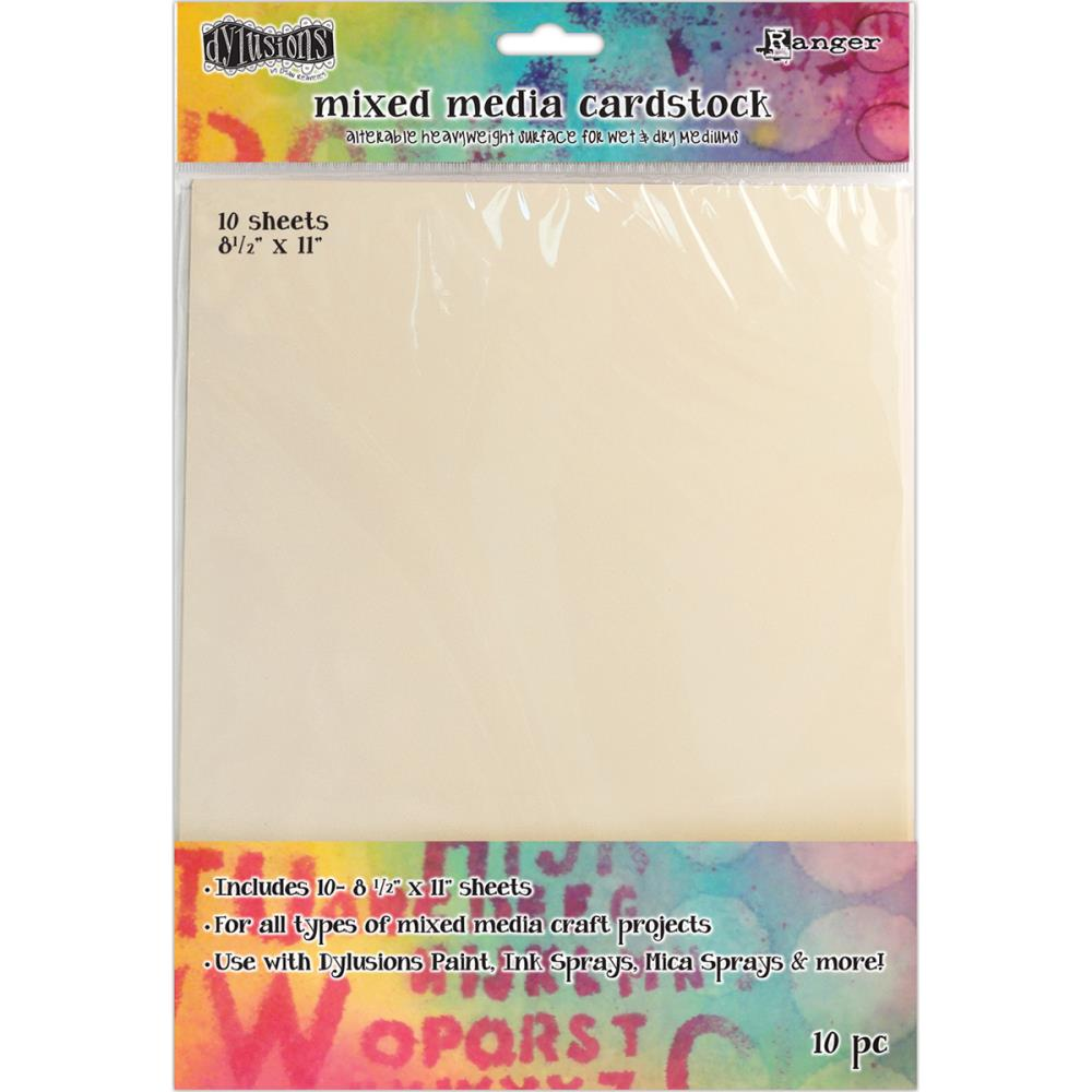 Dyan Reaveley's Dylusions Mixed Media Cardstock 10/Pkg