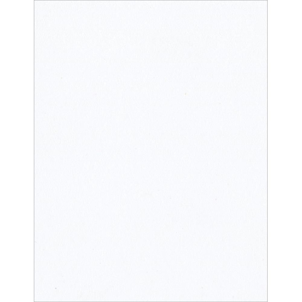 "Bazzill Classic Smooth Cardstock 8.5""X11"" - White - 100 lb (5 sheets)"