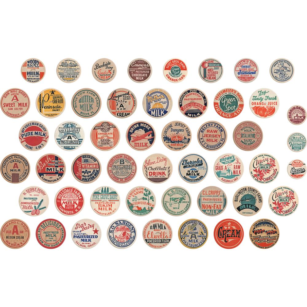 Tim Holtz - Idea-Ology Chipboard Milk Caps 50/pkg