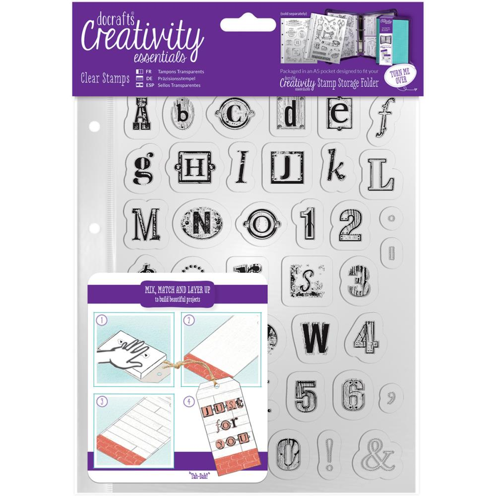 Creativity Essentials - Clear Stamps - Alphabet