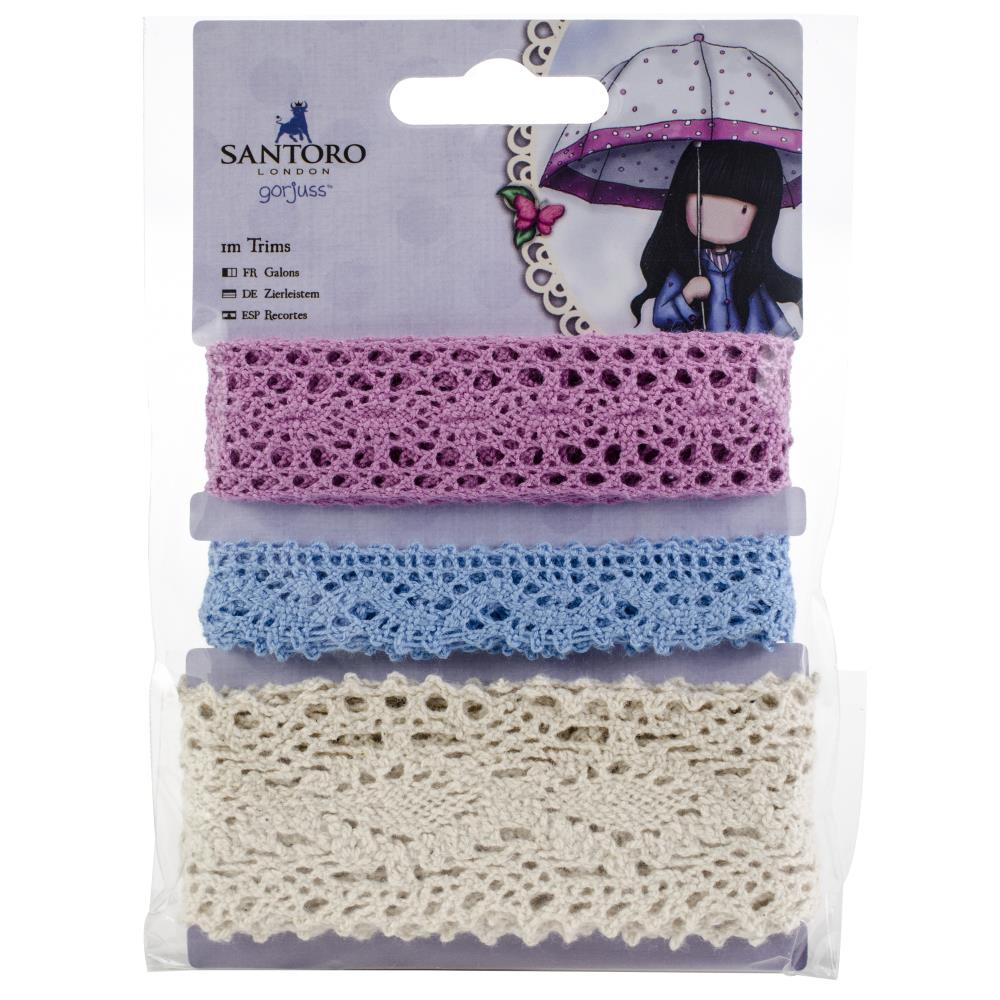 Docrafts Santoro Gorjuss Crochet Lace Trim 3/pkg