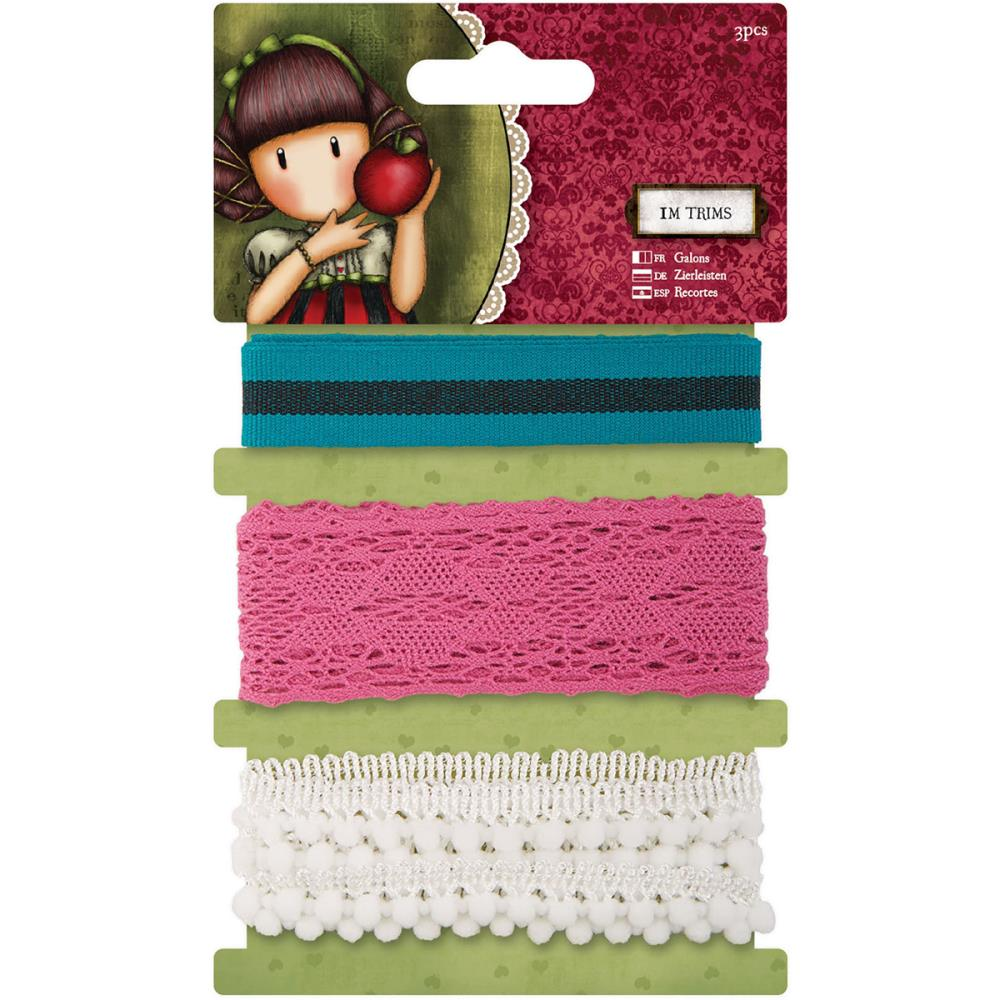 Docrafts Santoro Gorjuss - Assorted Trim 3/pkg