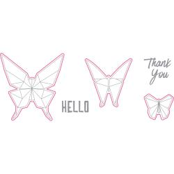 Richard Garay - Oragami Love Stamp & Die Set - Hello Butterfly