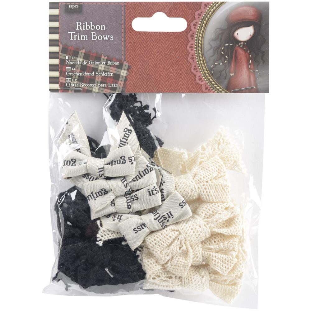 Docrafts Santoro Gorjuss - Tweed Ribbon Bows 12/pkg