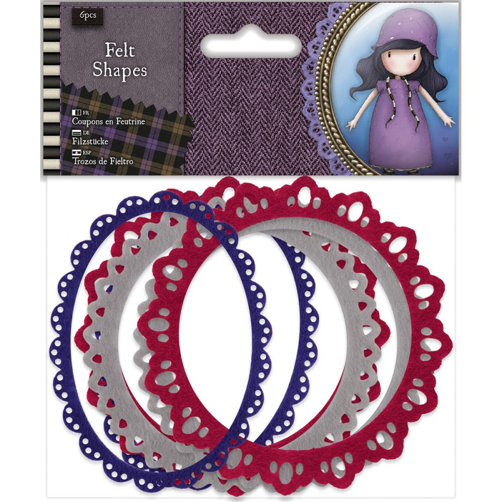 Docrafts Santoro Gorjuss - Tweed Felt Shapes 6/pkg