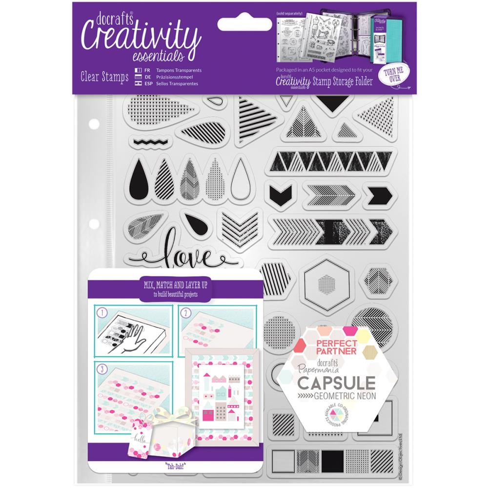 Creativity Essentials - Clear Stamps - Geometric Neon