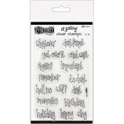 "Ranger Dyan Reaveley's Dylusions Clear Stamps 4""X8"" - Whatever"