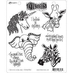 Ranger - Dylusions - Stamps -I Believe In Unicorns