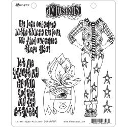 Ranger - Dyan Reaveley's Dylusions Cling Stamp Let Me Adjust My Crown