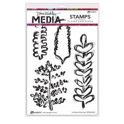 Ranger - Dina Wakley Media - Stamps -Scribbled Branches