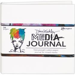 Dina Wakley Media White Journal 6x6 Includes Heavyweight Watercolor Paper