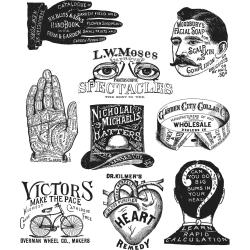 Stampers Anonymous - Tim Holtz - Cling Stamps - Eclectic Adverts