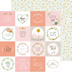"Pebbles - Peek-A-Boo You Double-Sided Cardstock 12""X12"" Little One, Girl"
