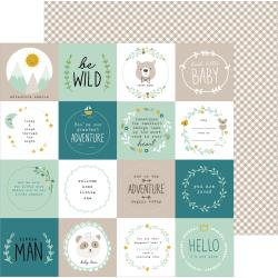 "Pebbles - Peek-A-Boo You Double-Sided Cardstock 12""X12"" Be Wild, Boy"