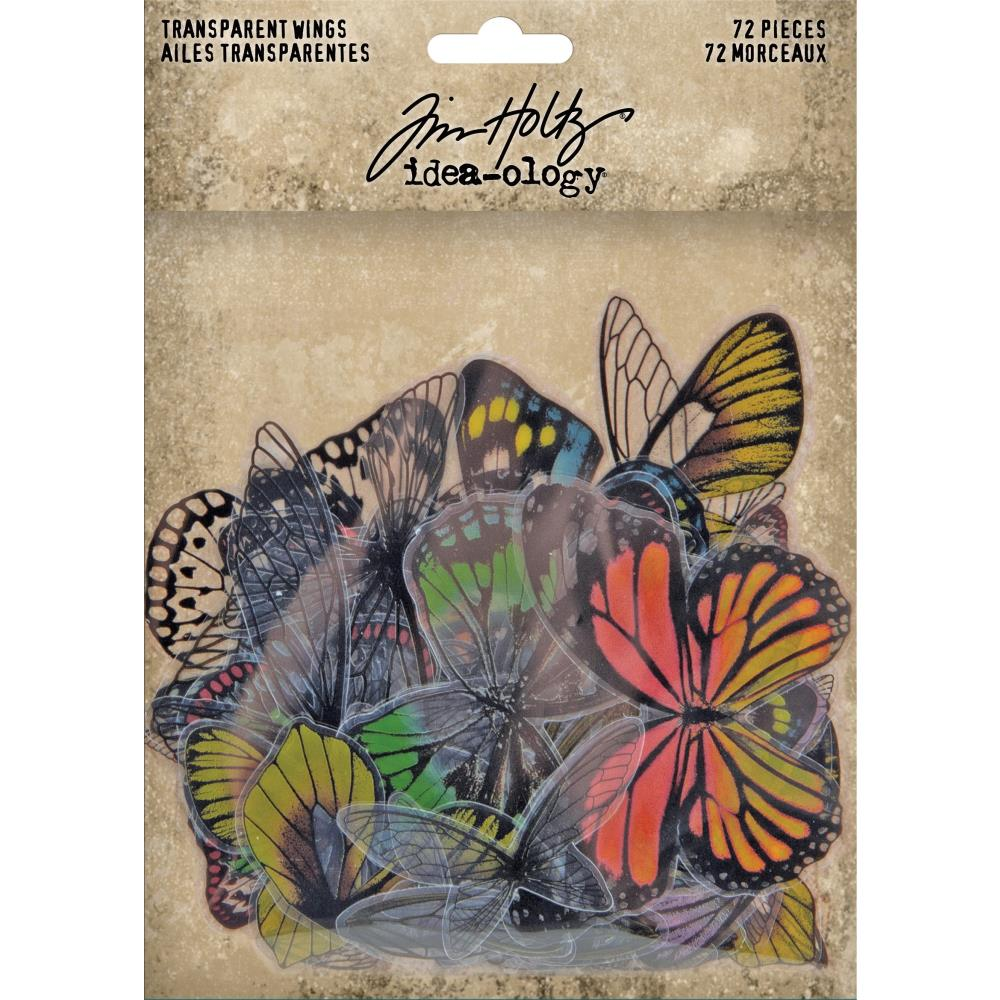 Tim Holtz - Idea-Ology Transparent Acetate Butterfly Wings 72/Pkg
