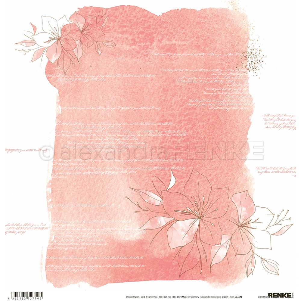 "Alexandra Renke - 12""x12"" Single-Sided Cardstock - Abstract Design - Big Amaryllis"