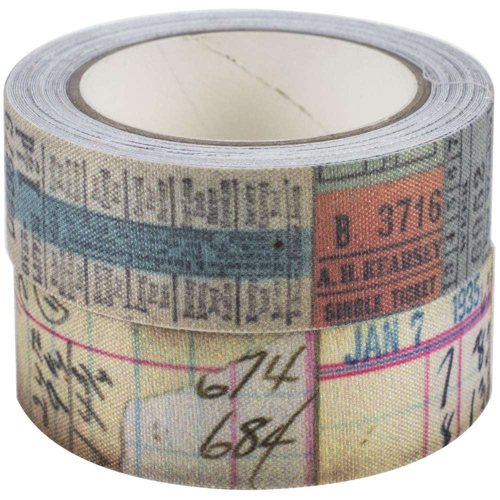 "Tim Holtz - Idea-Ology Fabric Tape .75""X3yd 2/Pkg"