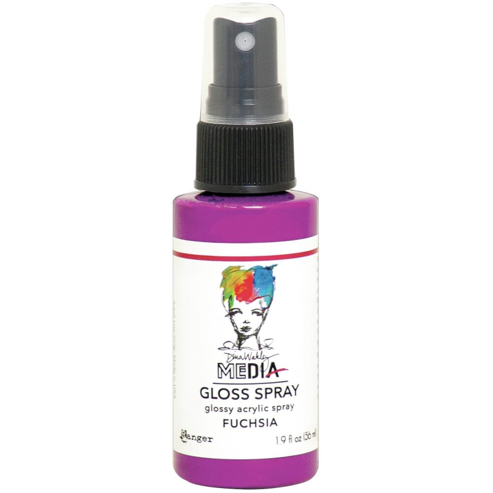 Dina Wakley Media - Gloss Spray - Fuchsia
