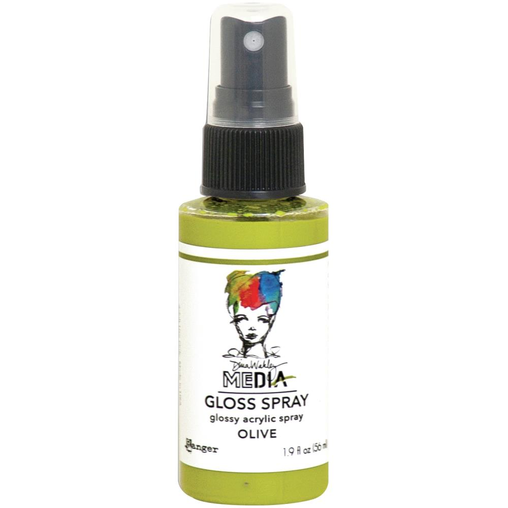 Dina Wakley Media - Gloss Spray - Olive