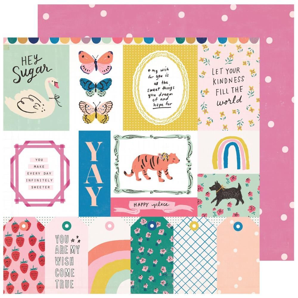 "Crate Paper - Double-Sided Cardstock 12""X12"" - Maggie Holmes - Sweet Story - Sweet Treat"