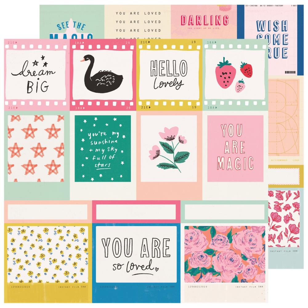 "Crate Paper - Double-Sided Cardstock 12""X12"" - Maggie Holmes - Sweet Story - Confection"
