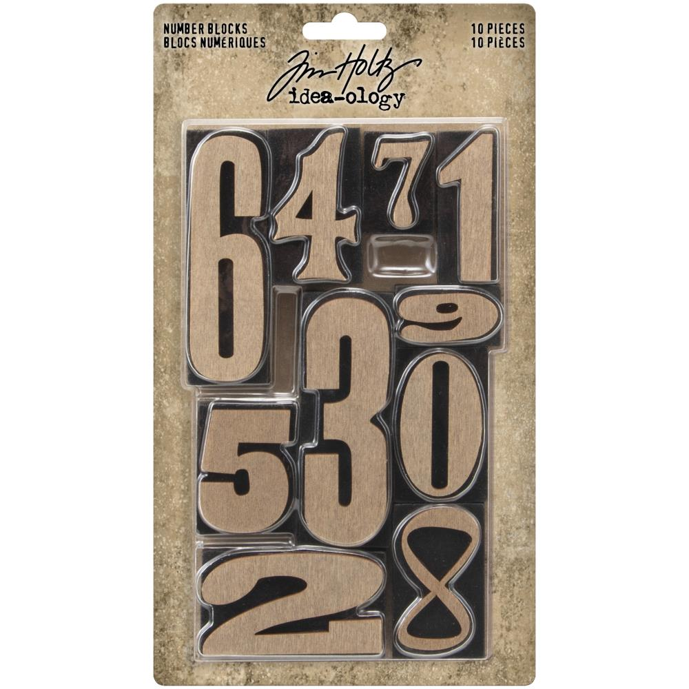 Tim Holtz - Idea-Ology Number Blocks 10/Pkg