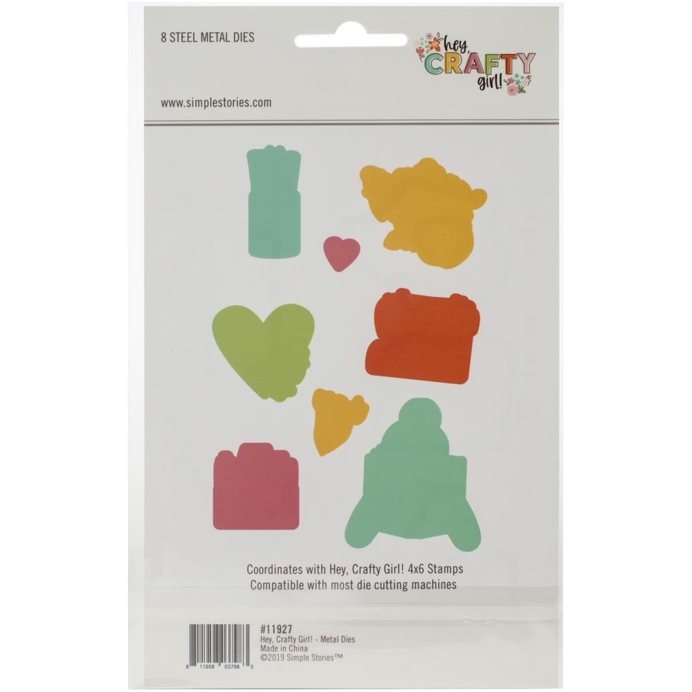 Simple Stories - Craft Die Set 8/pkg - Hey Crafty Girl