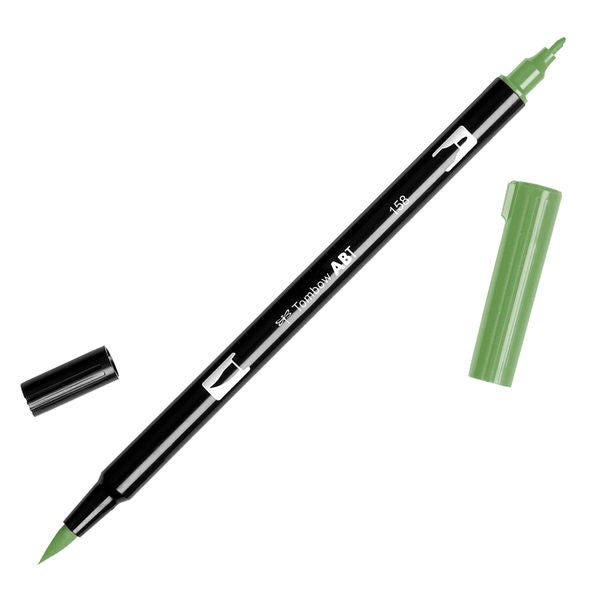 Tombow Dual Brush Pen - Dark Olive #158