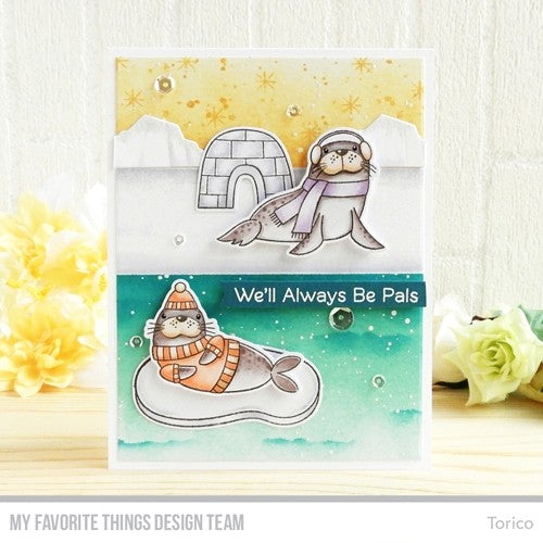 "My Favorite Things - 4""x8"" Clear Stamp Set - Polar Pals"